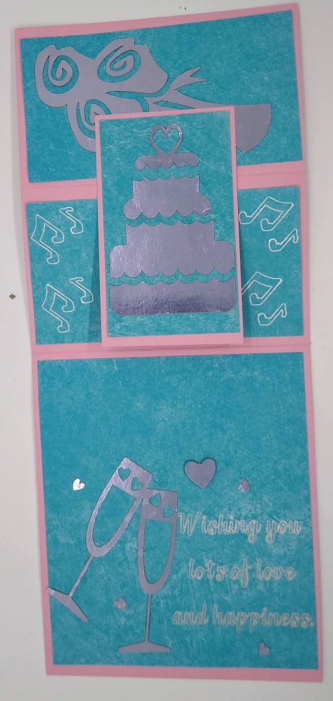 Wedding Easel Card completely Flat