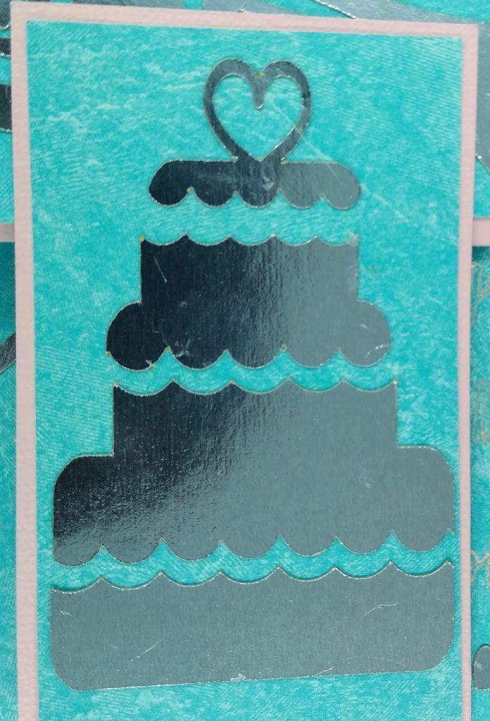 Wedding Easel Card cake details