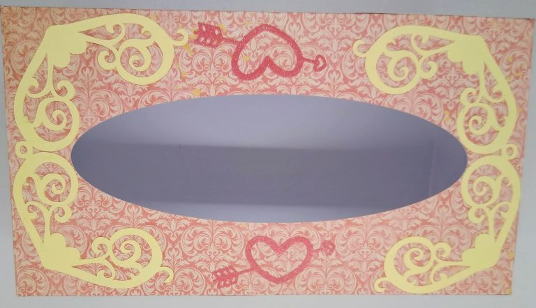 Top of Valentines Tissue Box Cover