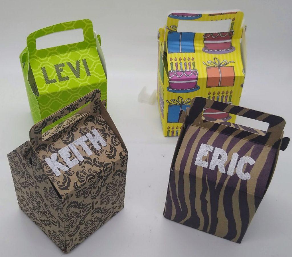 Milk Carton Style small gift boxes