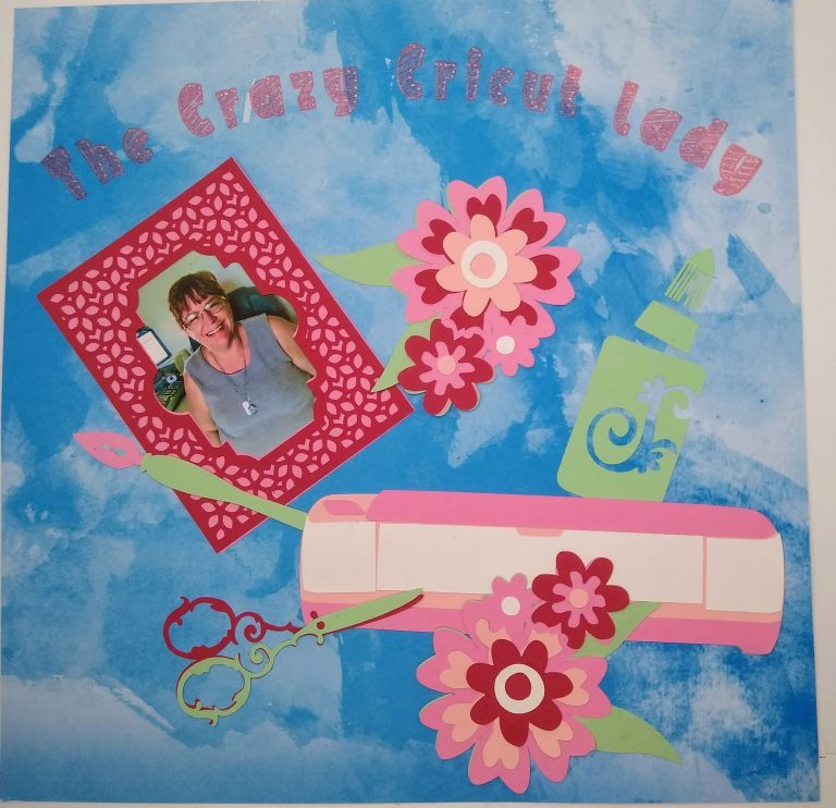 Adding pictures to scrapbook pages - The Crazy Cricut Lady Page