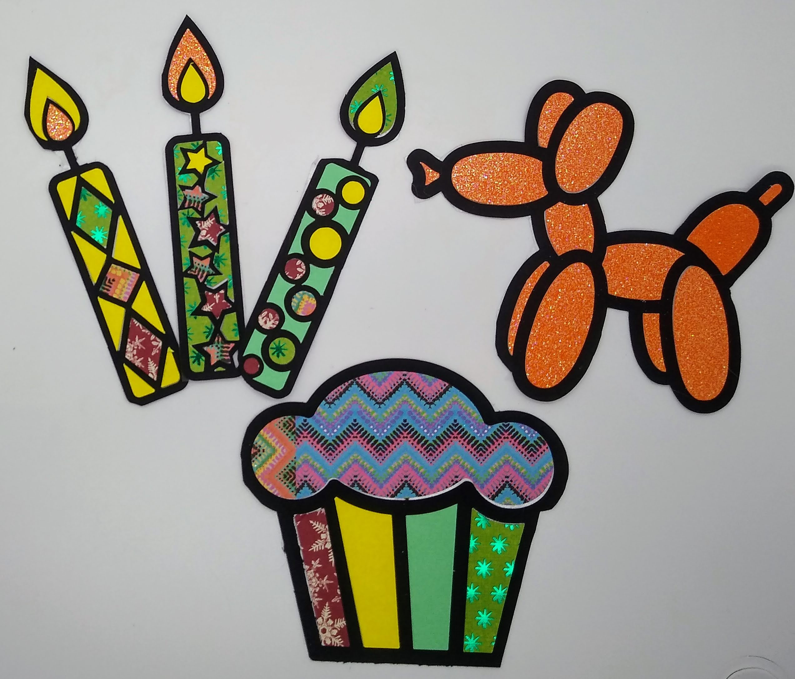 Birthday Bling Coloring With Paper Embellishments