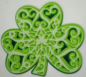 Shamrock Layered Mandala in shades of green