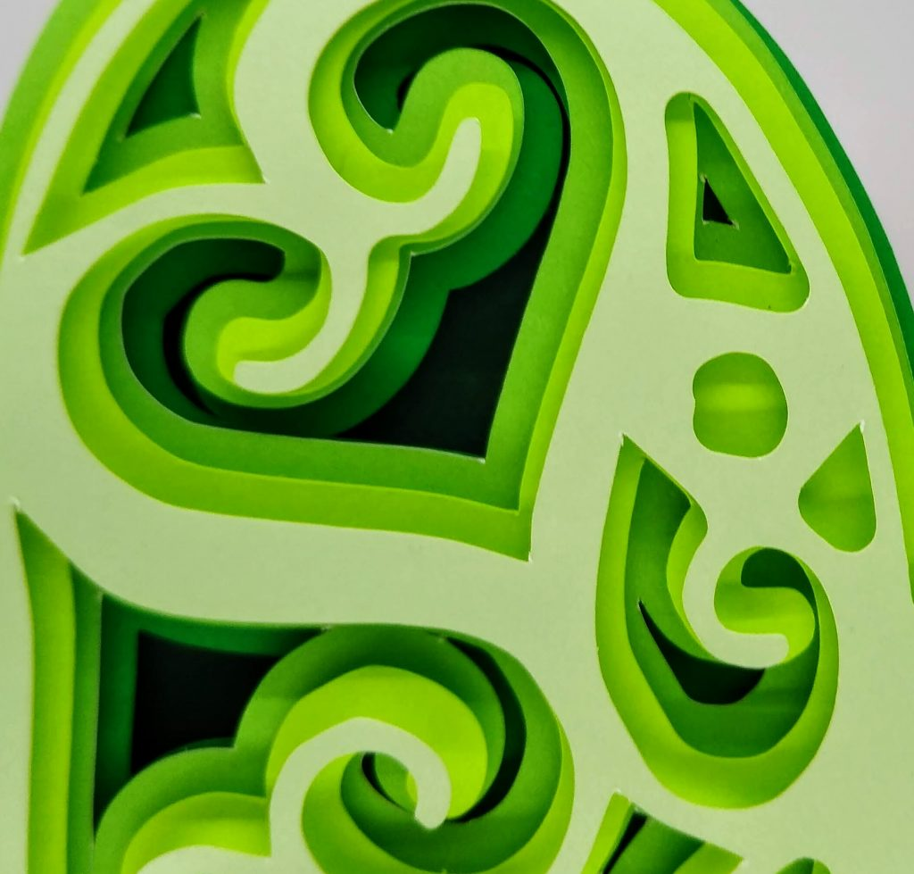 Shamrock Layered Mandala close up view