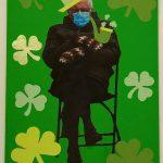 Front of St. Patrick's Day Bernie meme card