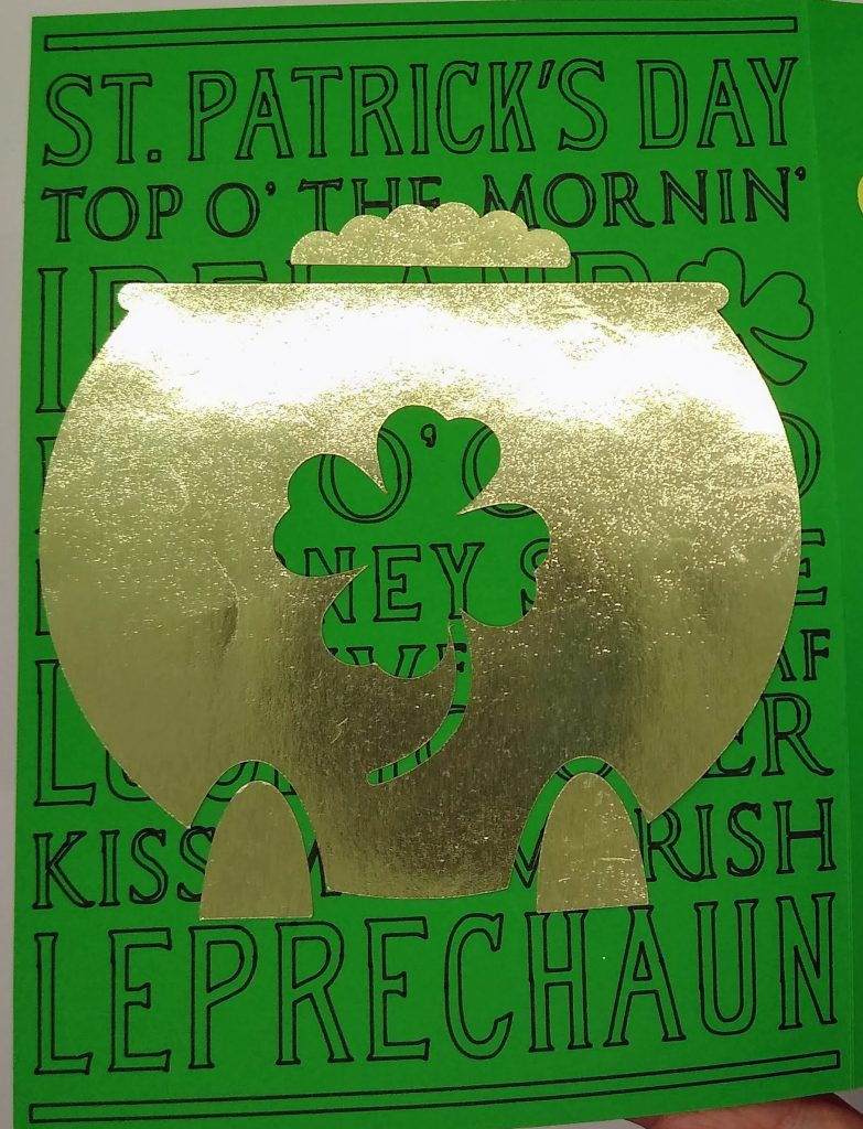 Detail of Bernie Meme St. Patrick's Day Card