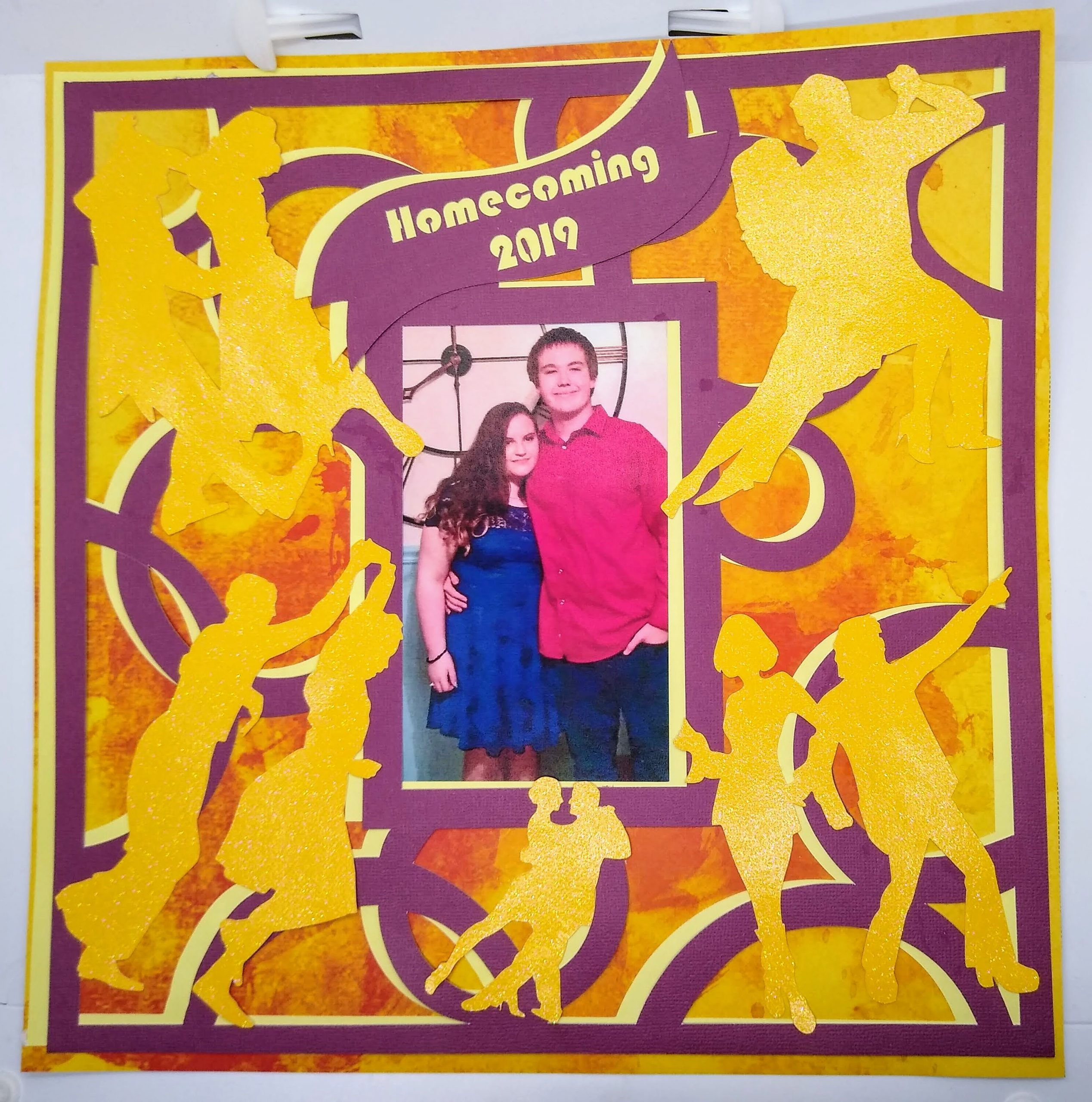 Homecoming Dance Scrapbook Page