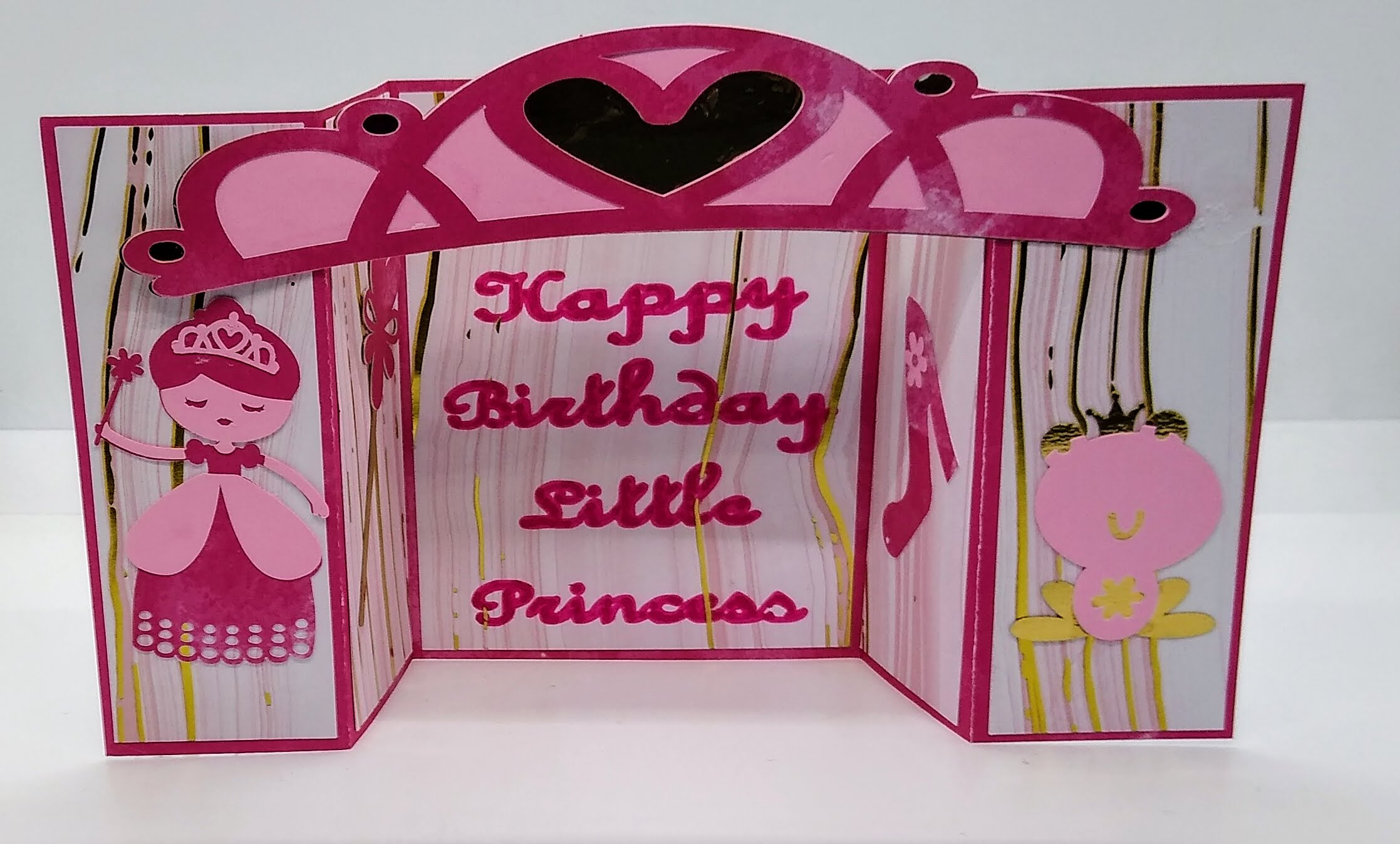 Try This Princess Birthday Bridge Card