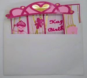 Princess Bridge Birthday Cardin the envelope