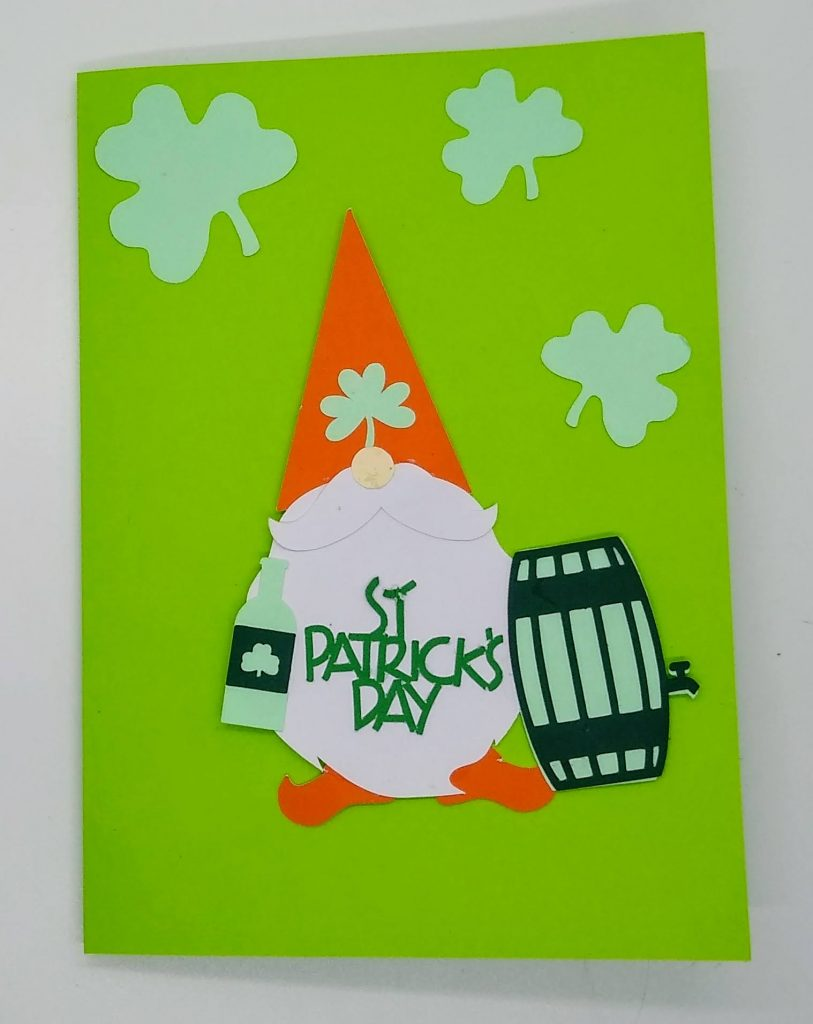 Drinking Gnome st patricks day gnome card
