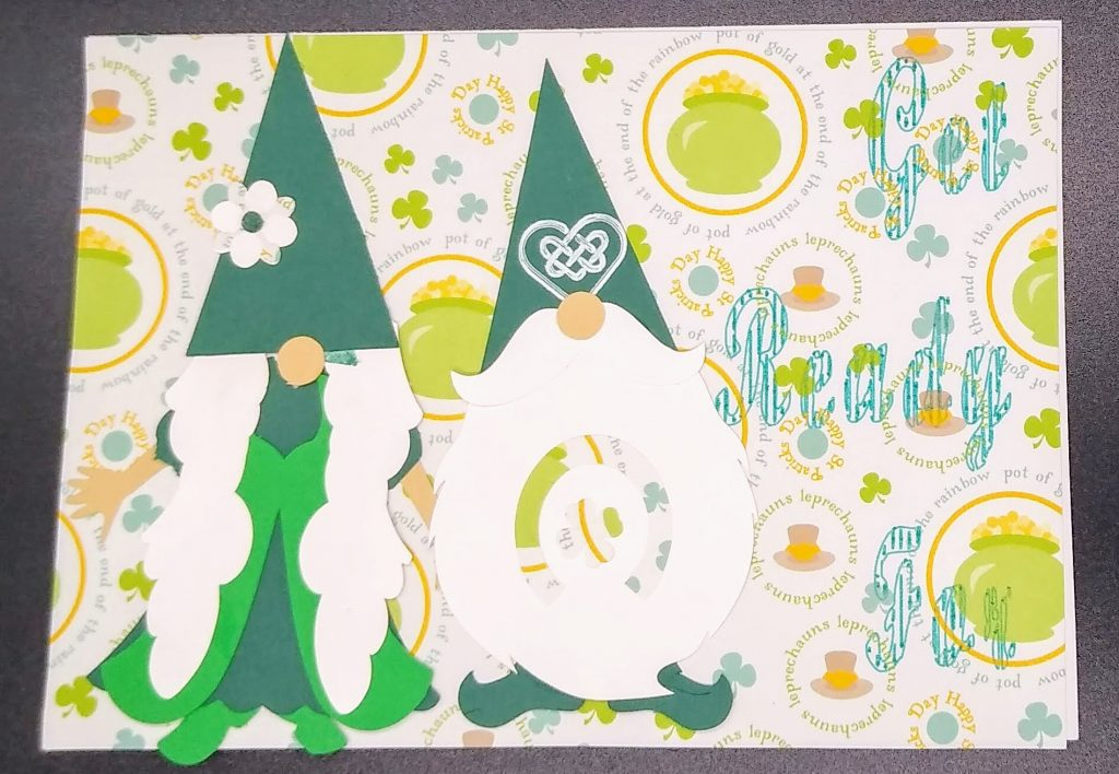 Front of Gnomies St Patricks Day card