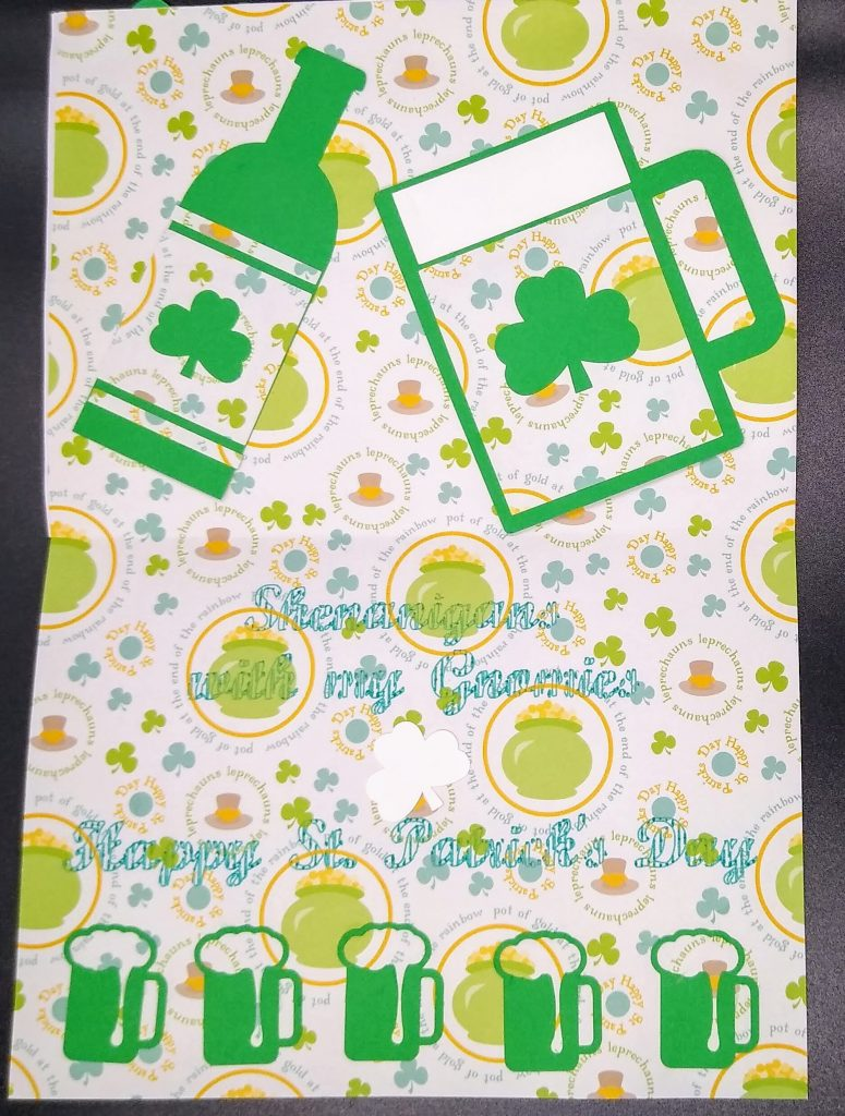 Inside Gnomies St Patricks Day card