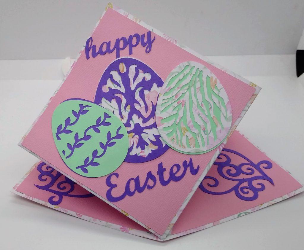 Happy Easter Diamond Fold Card
