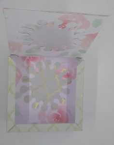 Second square box of two gift boxes