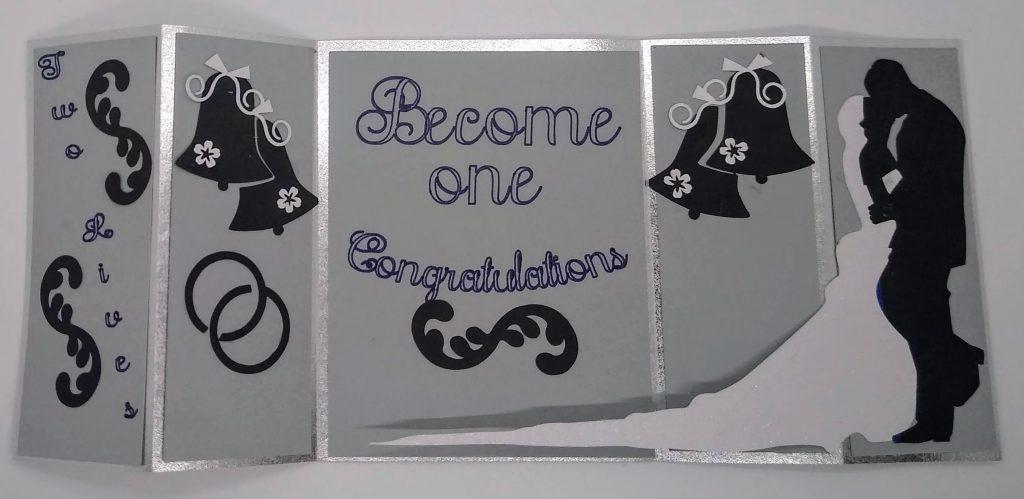Flat Wedding Bridge Card