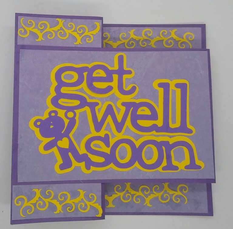 Get Well Z Fold Card folded for mailing