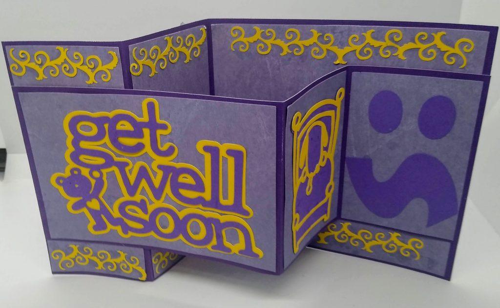 Get Well Z Fold Card upright