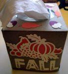 Fall Tissue Box