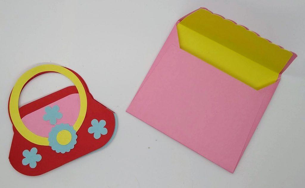 Purse Gift Card Holder with custom envelope