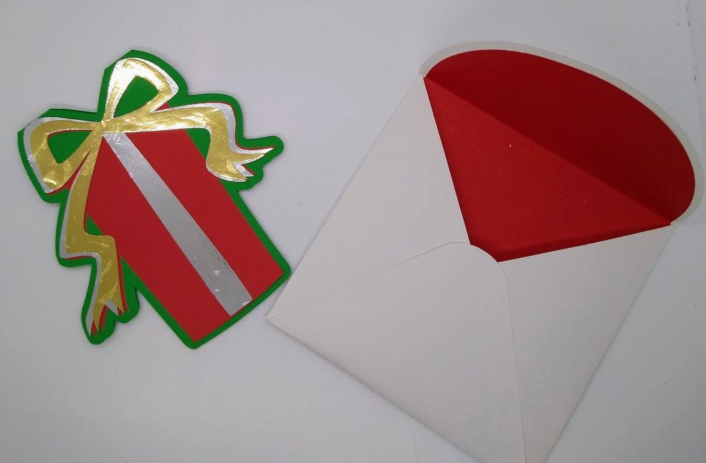 Card with envelope of the gift card holders