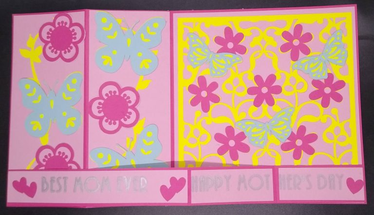 Mother's Day Z Fold Card laying flat