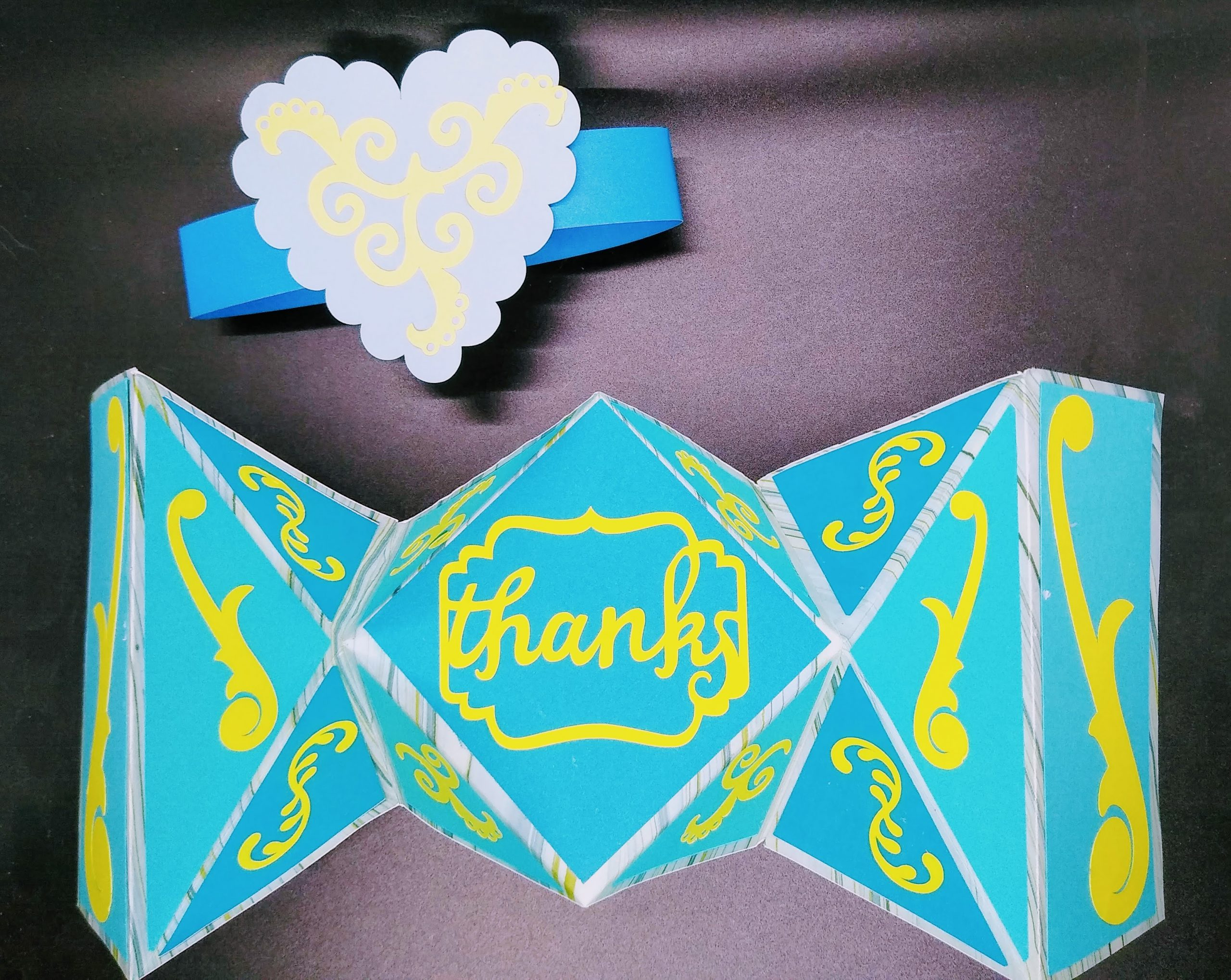 Fancy Fold Thank You Card With Card Band to Make