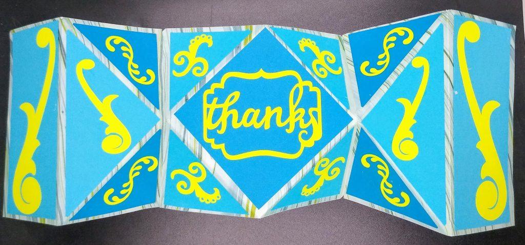 Open Fancy Fold Card