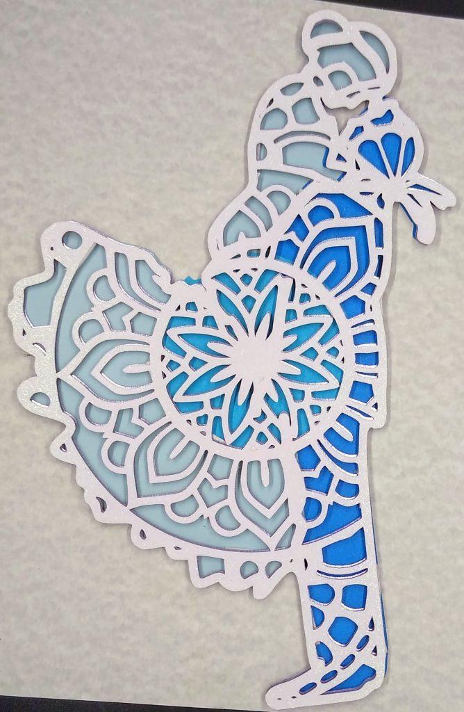 Bride & Groom Layered Mandala