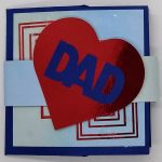 Art Deco Iron Cross Father's Day Card Design