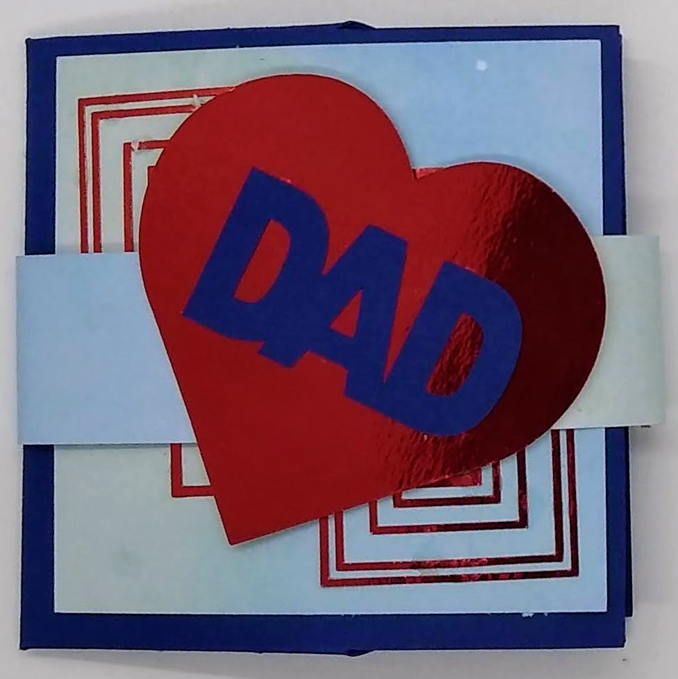 Art Deco Iron Cross Father's Day Card with Card Band