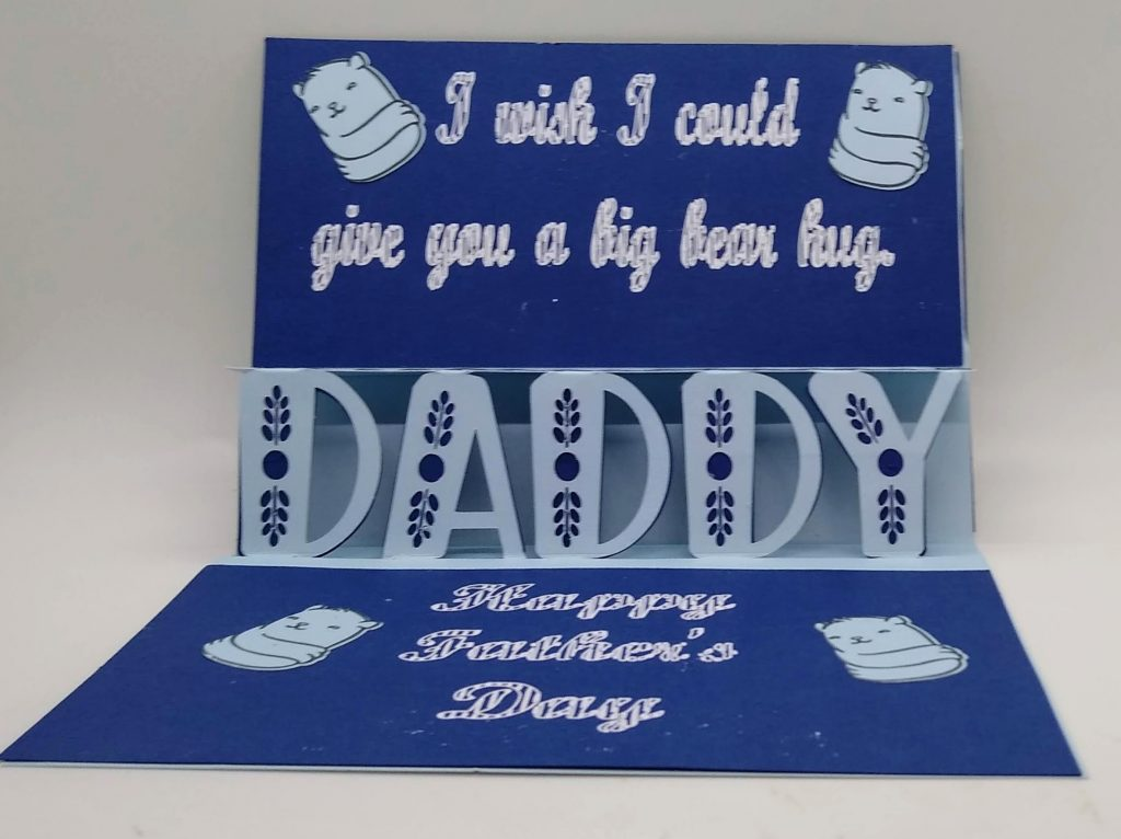 Daddy pop out Card