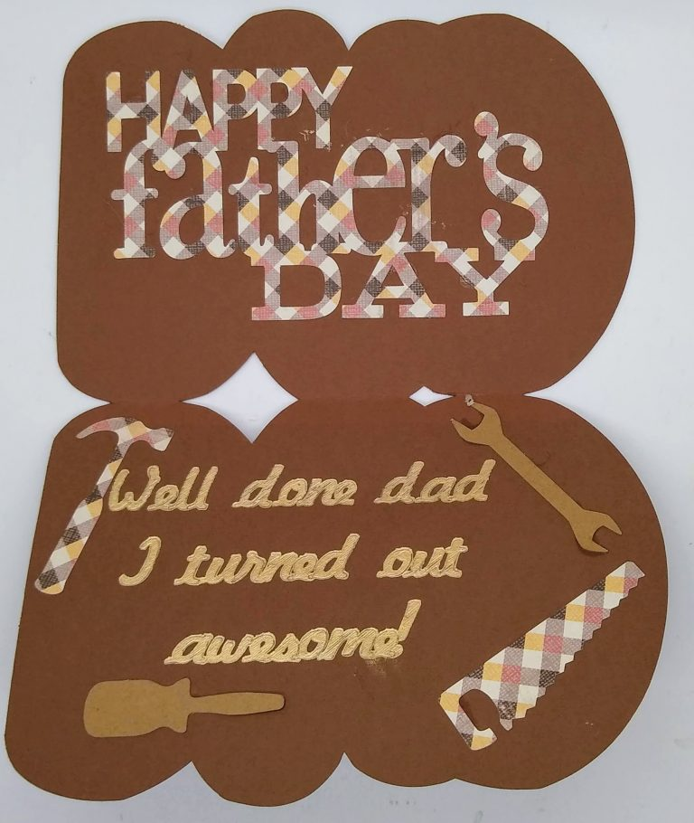 Open dad word card