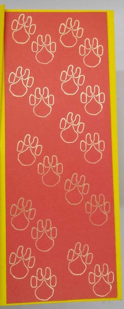 Zig Zag Graduation Card Paw prints