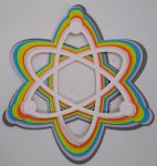 Concentric Atom Layered Art For Science Geeks