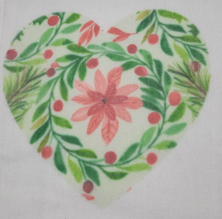 Sublimation or infusible ink on cotton materials