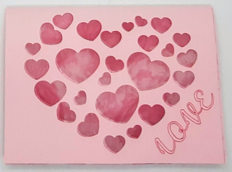 front of cut out love card