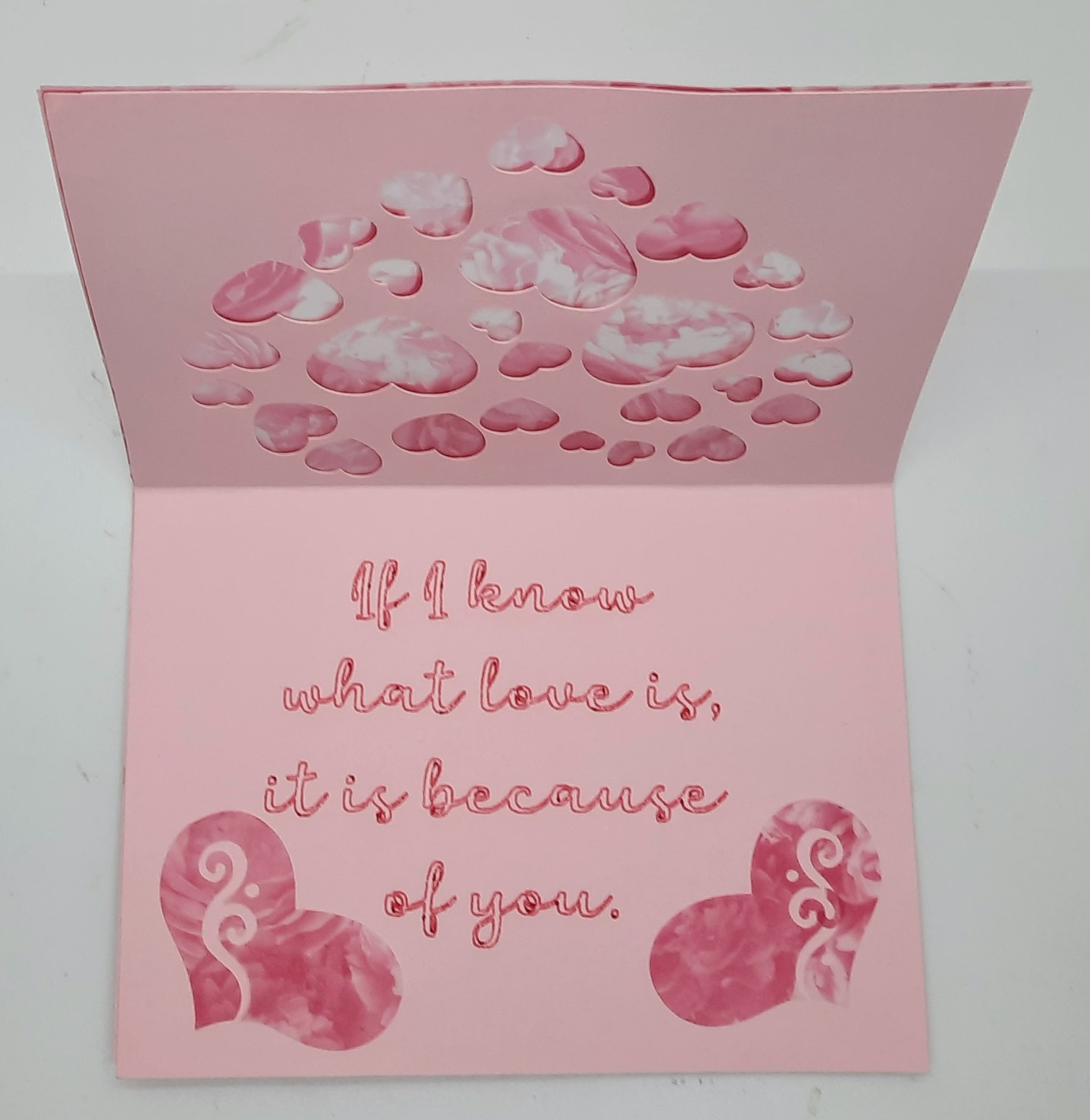 Simple Heart Cut Out Love Card For Your Sweetie