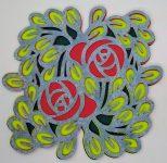 Rose Layered mandala made with the contour tool