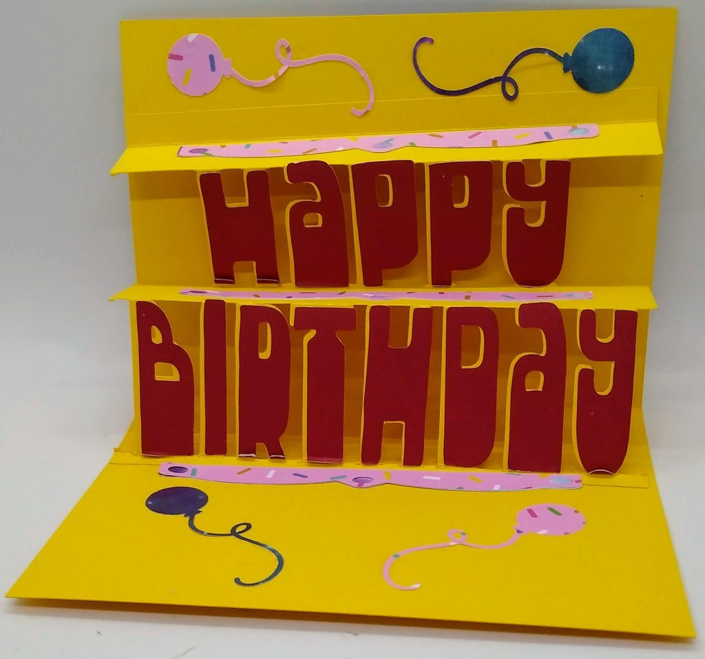 Happy Birthday pop out card