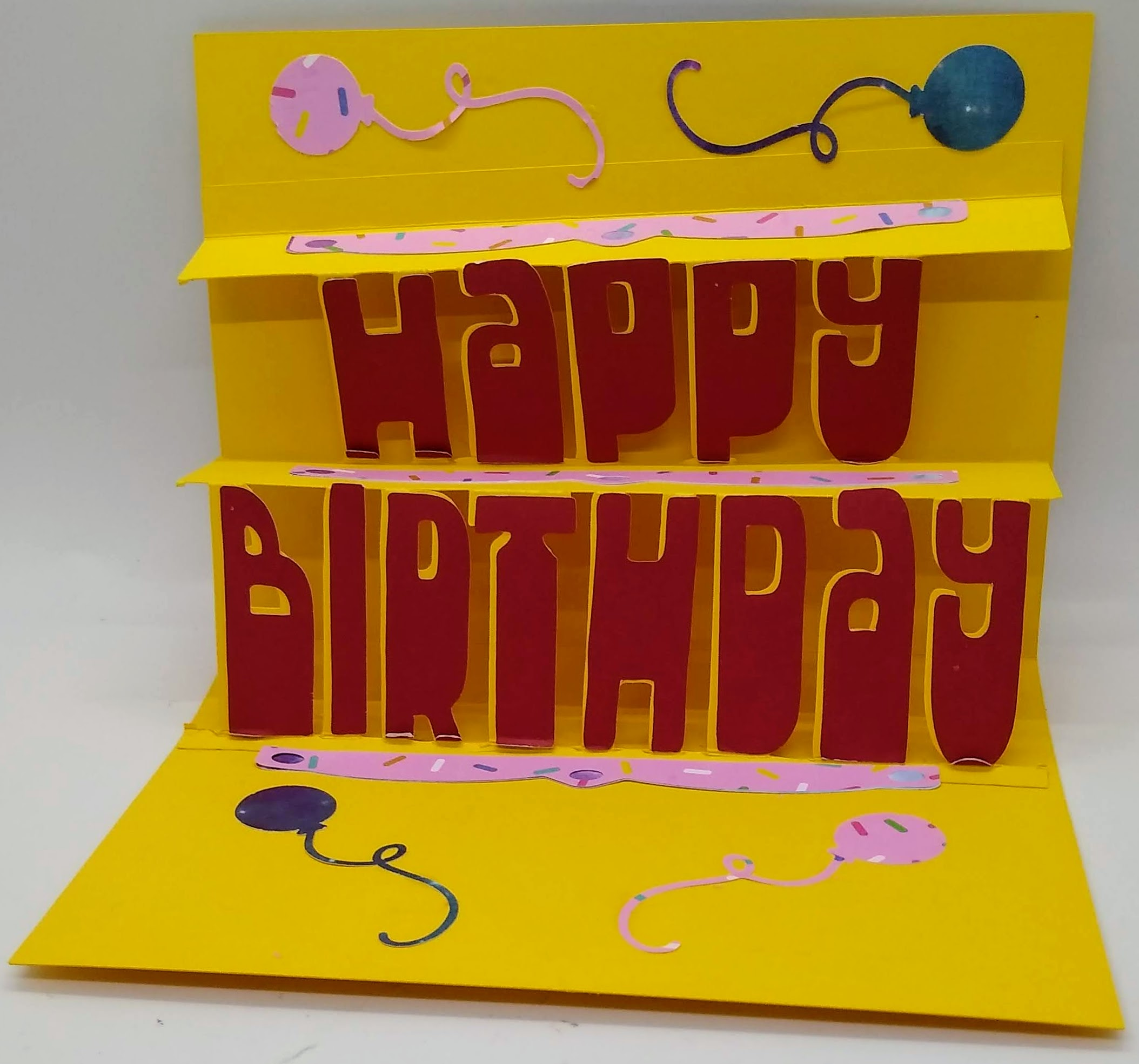 Happy Birthday Pop Out Card With 2 Layers