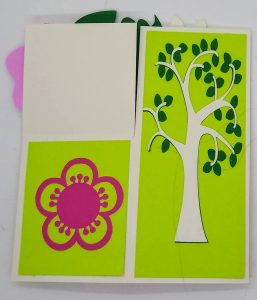 One side of the Flower Box Card for summer