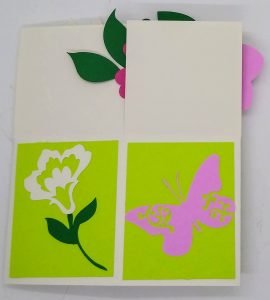 Side of the Flower Box Card for summer