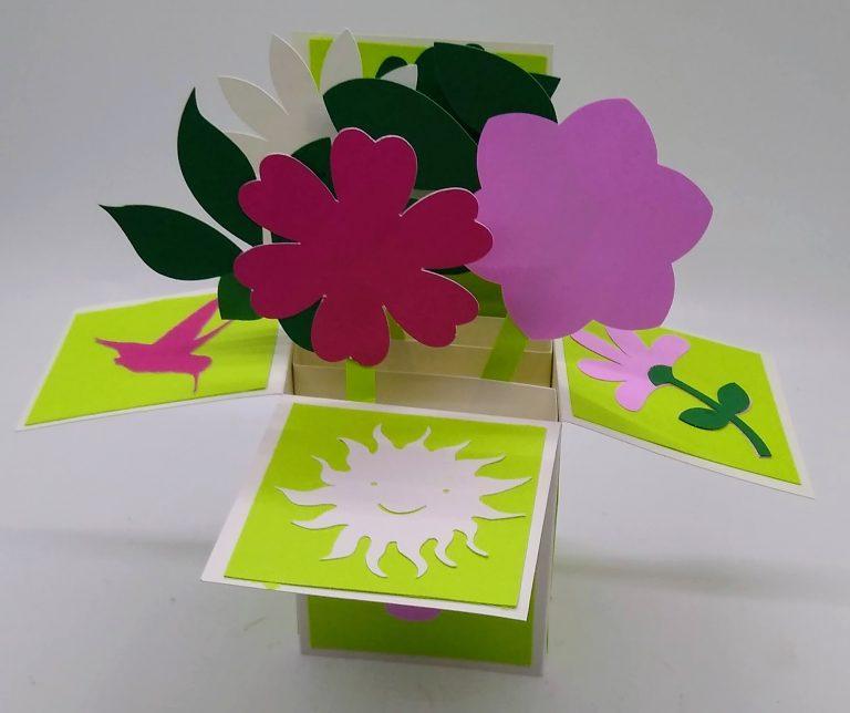 Flower Box Card for summer