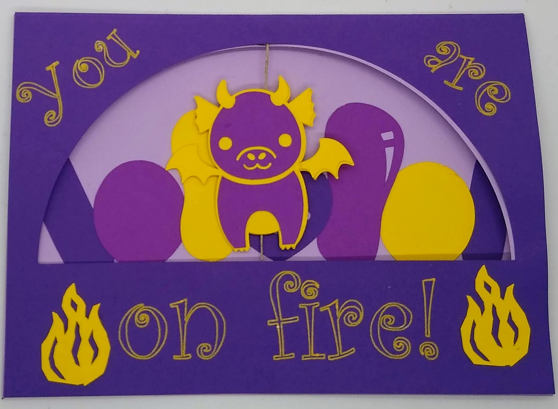 This Dragon Birthday Twirl Card Is Too Cute!