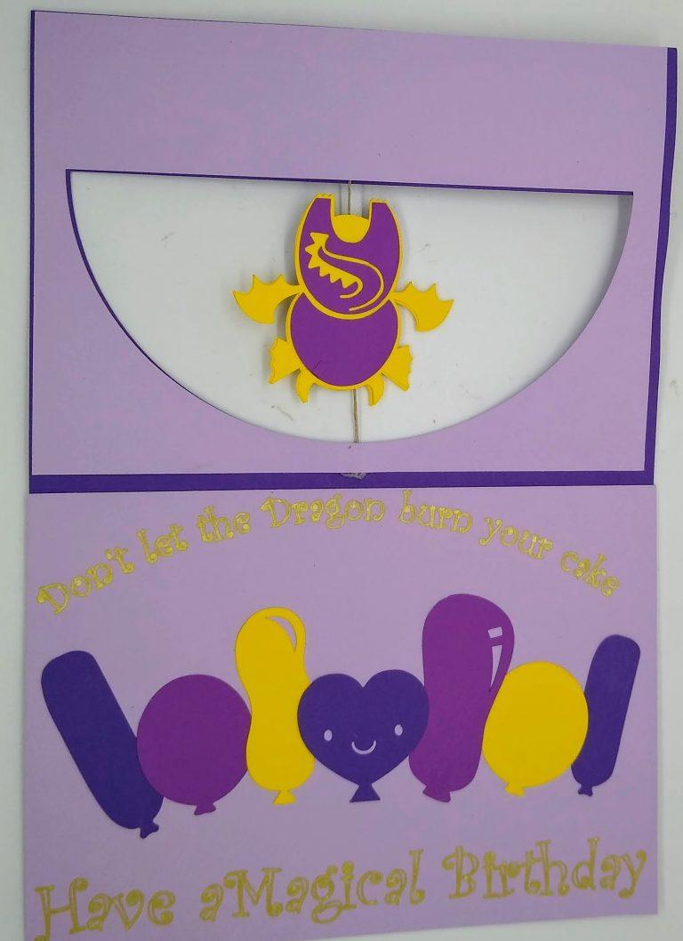 inside of Dragon Birthday Twirl Card