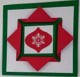 Make This Easy Folded Frame Christmas Card