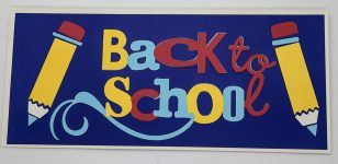 Back to School Friends Slimline Card