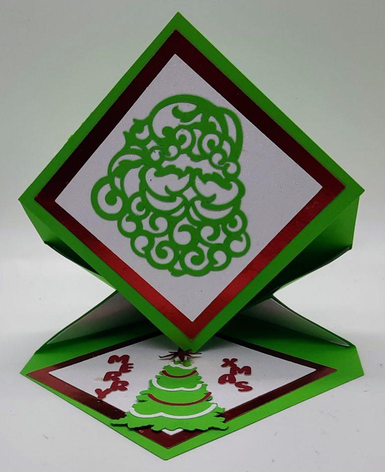 Diamond Easel Christmas Card all set up