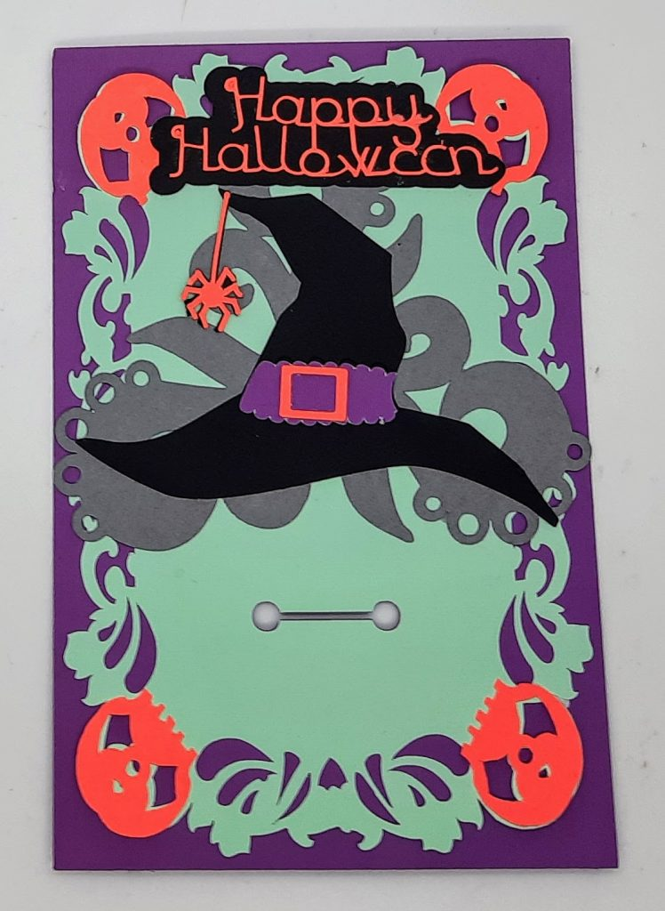 Hallowenn treats card without candy