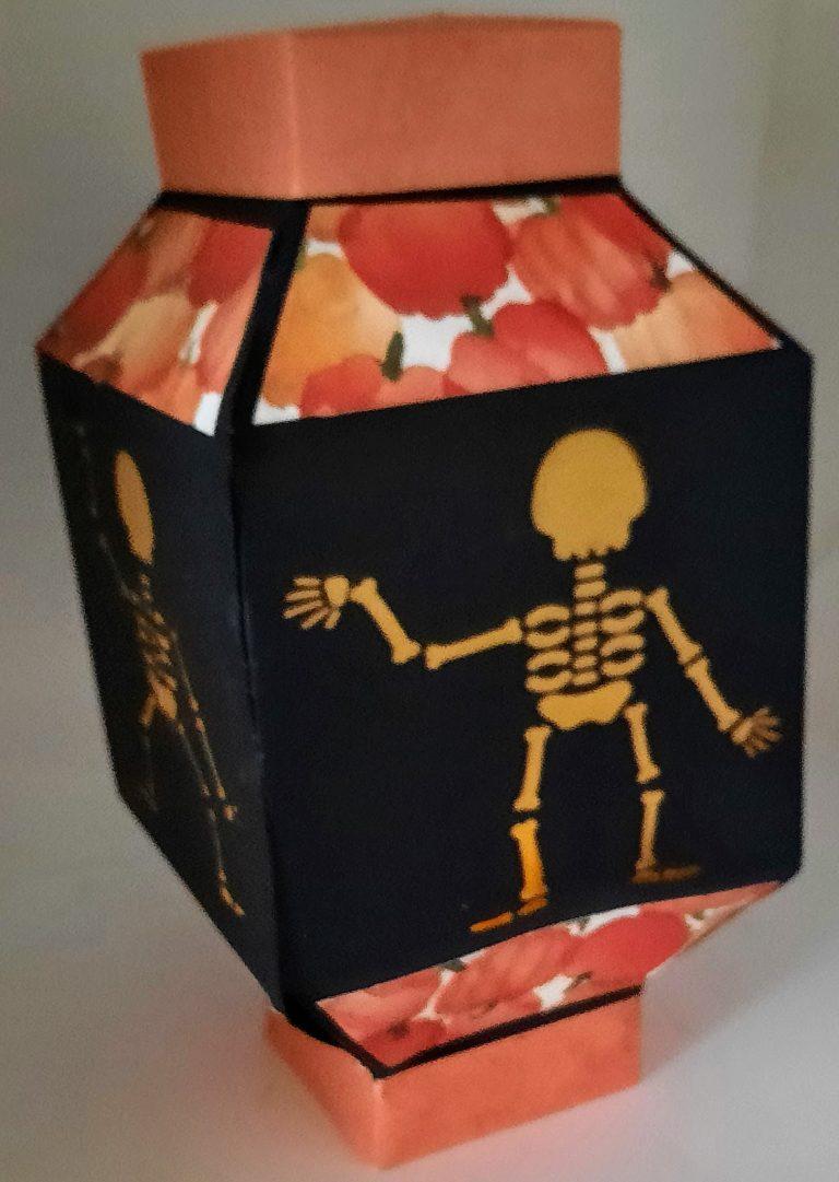 Skeleton Chinese Lantern Style Luminary